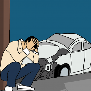 Car Accident In Parking Lot
